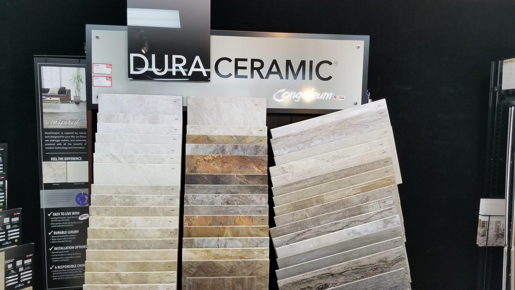 Dura Ceramic Tile Display Bodamers Carpets Plus Of Traverse City